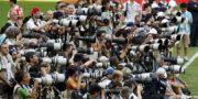 Asi trabajan los fotógrafos en eventos deportivos